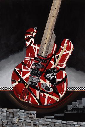 EDDIE (Tribute Painting to Eddie Van Halen 1955-2020)
